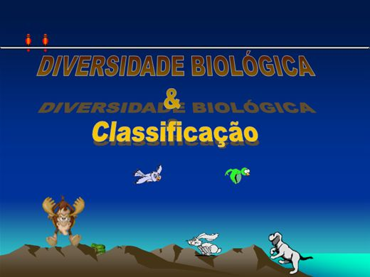 Curso Online de Diversidade Biológica e Classificação