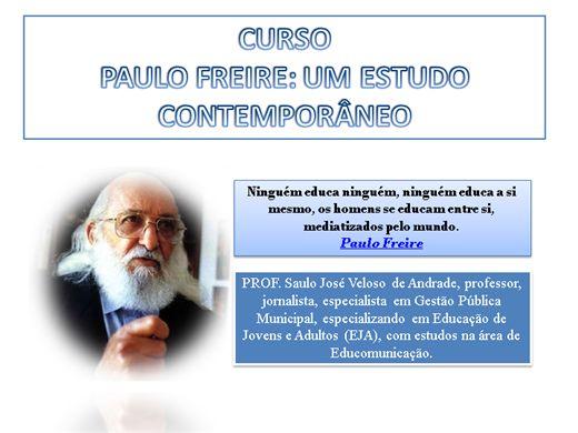 Curso Online de PAULO FREIRE: UM ESTUDO CONTEMPORÂNEO