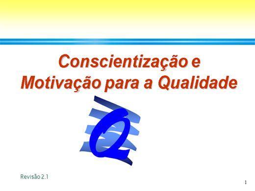 Curso Online de Conscientização e Motivação para a Qualidade