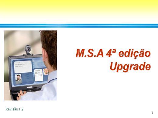 Curso Online de MSA 4ª edição Upgrade