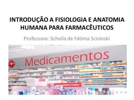Curso Online de Fisiologia e Anatomia Humana para Farmacêuticos I