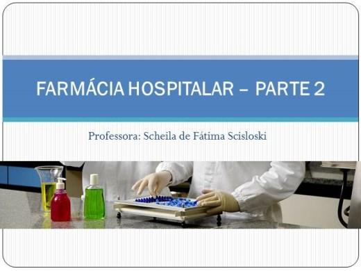Curso Online de Farmácia Hospitalar - Parte II