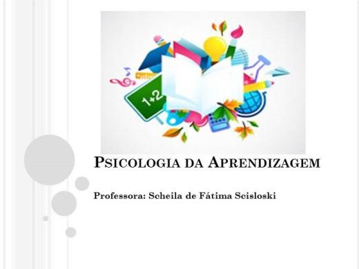 Curso Online de Psicologia da Aprendizagem