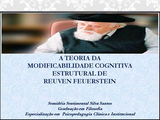 Curso Online de A TEORIA DA MODIFICABILIDADE COGNITIVA ESTRUTURAL DE REUVEN FEUERSTEIN