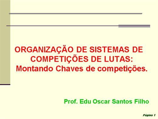 Curso Online de ORGANIZAÇÃO DE SISTEMAS DE COMPETIÇÕES DE LUTAS: Montando Chaves de competições.