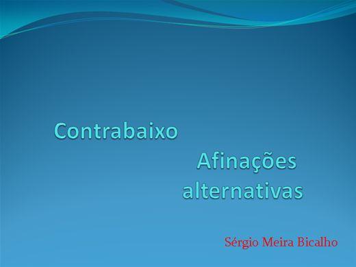 Curso Online de Contrabaixo - afinações alternativas.