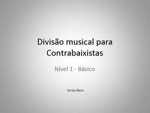 Curso Online de Divisao musical para Contrabaixistas