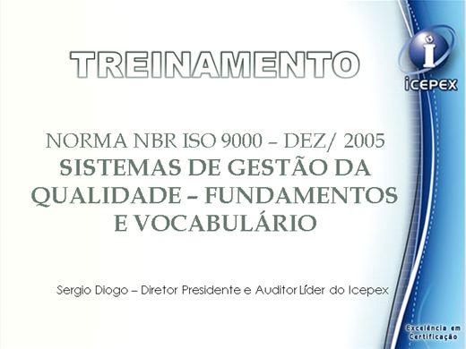 Curso Online de Terminologia e Definições do Sistema de Gestão da Qualidade - ABNT NBR ISO 9000 - SGQ - Fundamentos e vocabulário