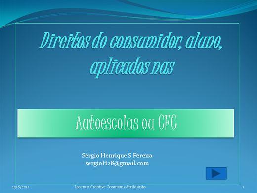 Curso Online de Código do consumidor aplicado nas autoescolas
