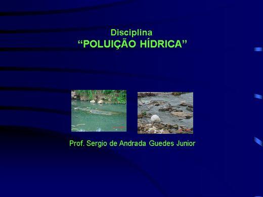 Curso Online de Introdução a Gestão em Poluição Hídrica