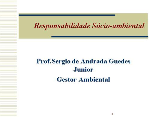 Curso Online de Responsabilidade Socio Ambiental