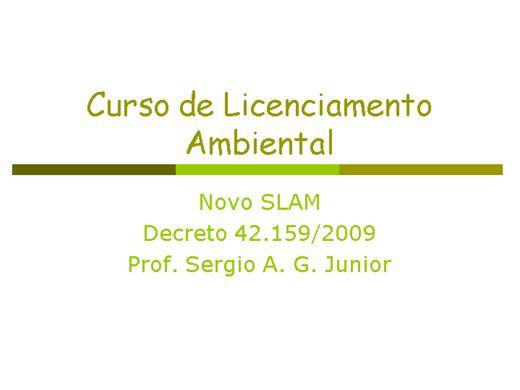 Curso Online de Curso de Licenciamento Ambiental : o novo SLAM