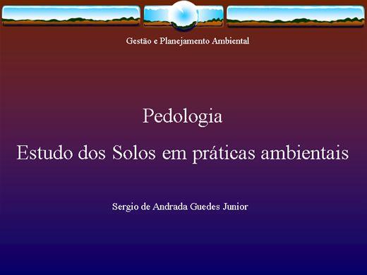 Curso Online de Pedologia: Estudo dos Solos para Práticas Sustentáveis.