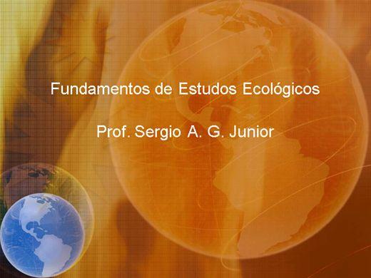 Curso Online de Fundamentos de Estudos Ecológicos