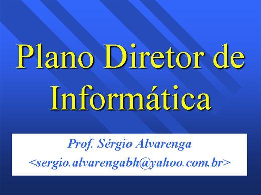 Curso Online de PLANO DIRETOR DE INFORMÁTICA