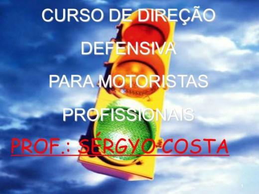 Curso Online de CURSO DE DIREÇÃO DEFENSIVA PARA MOTORISTAS PROFISSIONAIS.