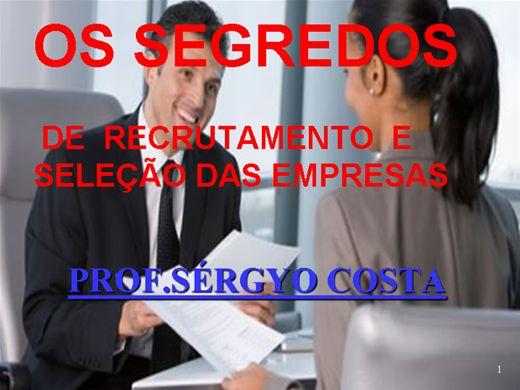 Curso Online de OS  SEGREDOS DE RECRUTAMENTO E SELEÇÃO DAS EMPRESAS