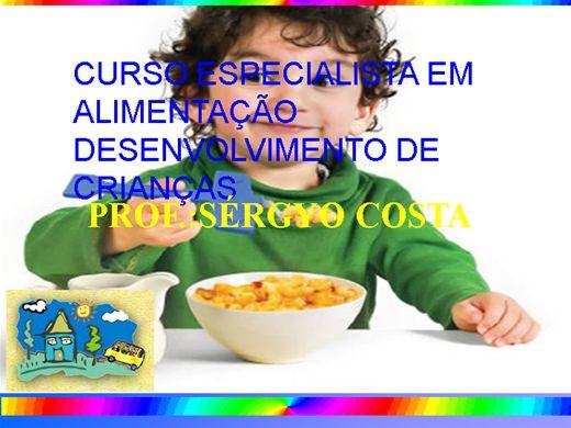 Curso Online de CURSO ESPECIALISTA EM ALIMENTAÇÃO E DESENVOLVIMENTO DE CRIANÇAS
