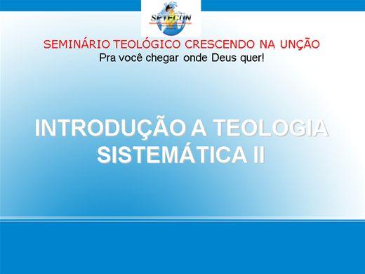 Curso Online de TEOLOGIA SISTEMÁTICA II