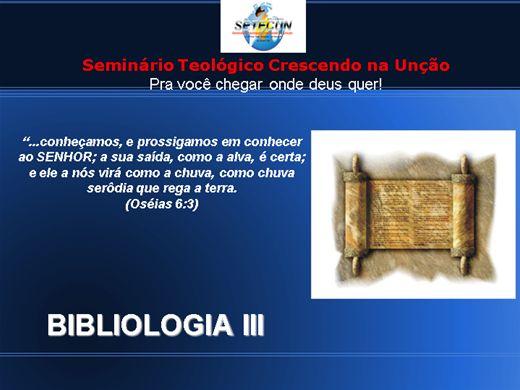 Curso Online de BIBLIOLOGIA III