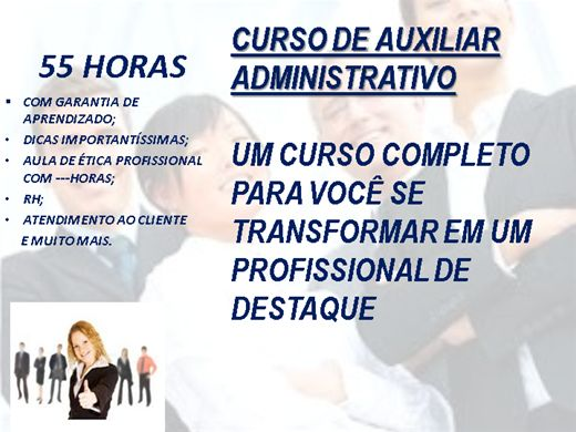 Curso Online de CURSO AUXILIAR / ASSISTENTE  ADMINISTRATIVO