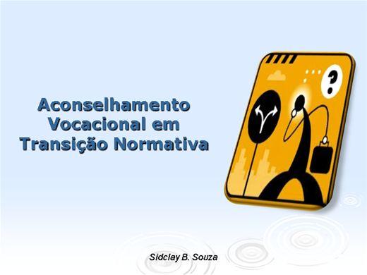Curso Online de Aconselhamento Vocacional em Transição Normativa.