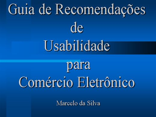 Curso Online de Usabilidade em E-Commerce