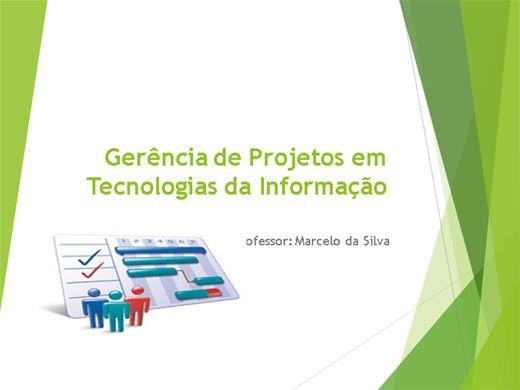 Curso Online de Gerência de Projetos em Tecnologias da Informação