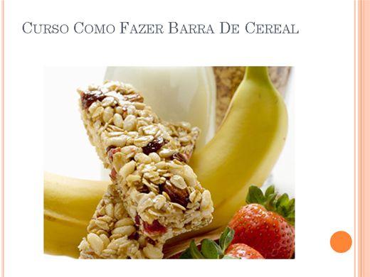Curso Online de Curso como Fazer Barra De Cereal