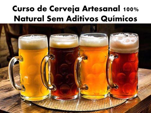 Curso Online de CURSO DE CERVEJA ARTESANAL 100% NATURAL SEM ADITIVOS QUÍMICOS