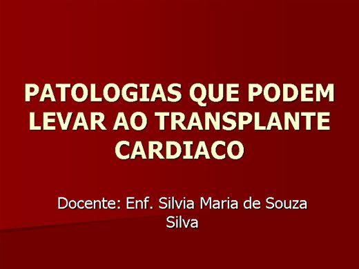 Curso Online de Patologias que podem levar ao transplante Cardiaco