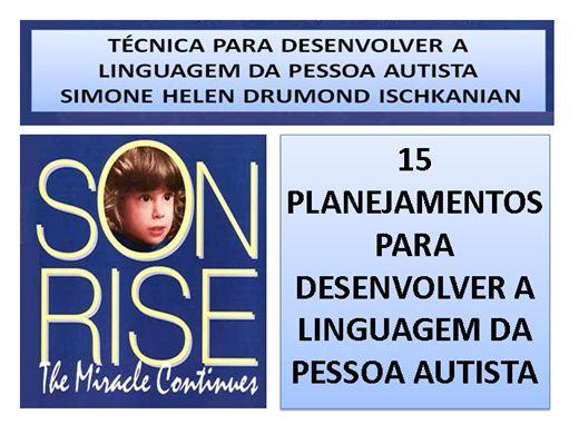 Curso Online de 15 ideias de planejamentos para desenvolver a linguagem da pessoa autista - Son Rise.