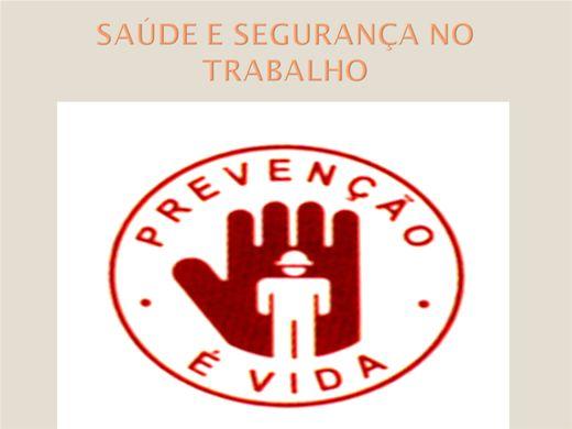 Curso Online de SAÚDE E SEGURANÇA NO TRABALHO