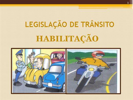 Curso Online de Legislação do Trânsito:Habilitação