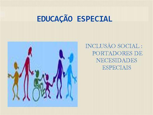 Curso Online de Inclusao Social: Portador de Necessidade Especial