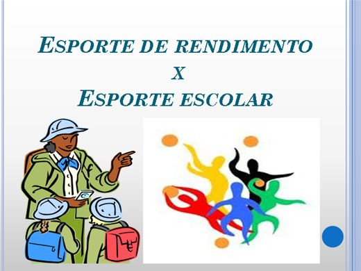 Curso Online de Esporte de Redimento X Esporte Escolar