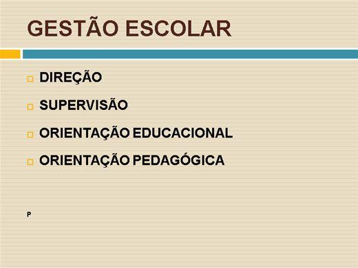 Curso Online de Gestão Escolar:Direção, Supervisão e Orientação Pedagógica
