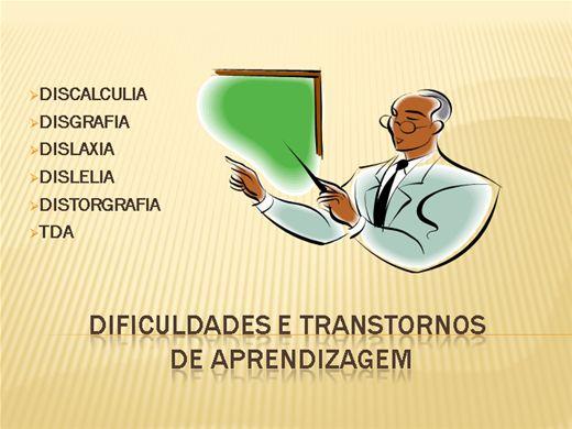 Curso Online de Dificuldades e Transtornos de Aprendizagem