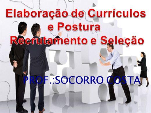 Curso Online de ELABORAÇÃO DE CURRÍCULOS E POSTURA RECRUTAMENTE E SELEÇÃO