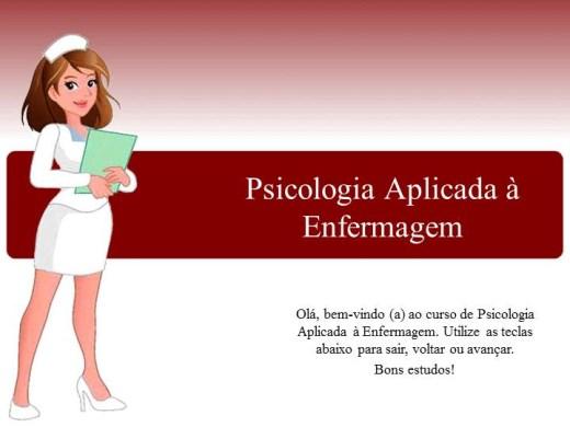 Curso Online de Psicologia aplicada a enfermagem