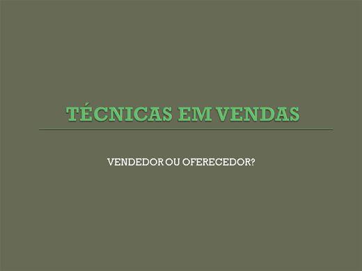 Curso Online de TÉCNICAS EM VENDAS