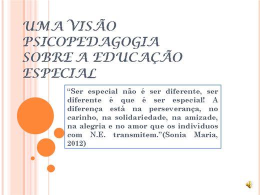 Curso Online de Uma visão psicopedagógica sobre a Educação Especial