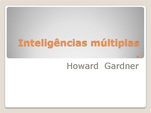 Curso Online de Inteligências Múltiplas- Howard Gadner