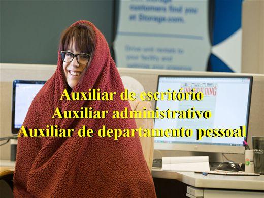 Curso Online de Auxiliar de Escritório/Auxiliar Administrativo/Auxiliar de Departamento Pessoal