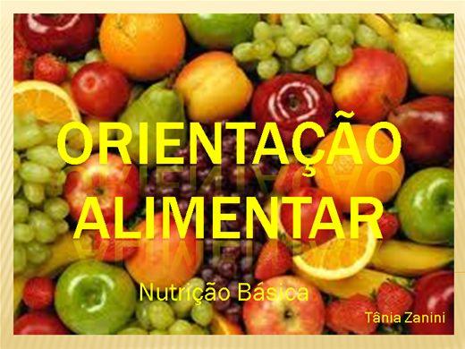 Curso Online de Orientação Alimentar - Nutrição Básica