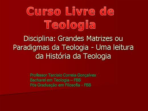 Curso Online de Curso Livre de Teologia : Teologia Comteporanea
