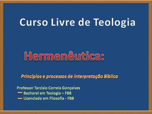 Curso Online de HERMENEUTICA BASICA 02