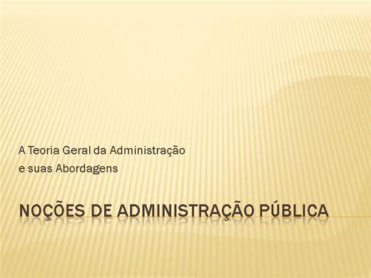 Curso Online de NOÇÕES DE ADMINISTRAÇÃO PÚBLICA