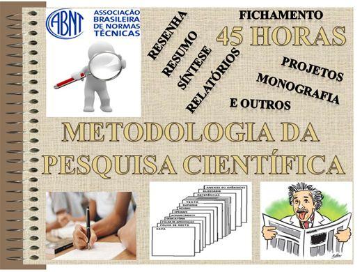 Curso Online de Metodologia da Pesquisa Científica (45 horas)