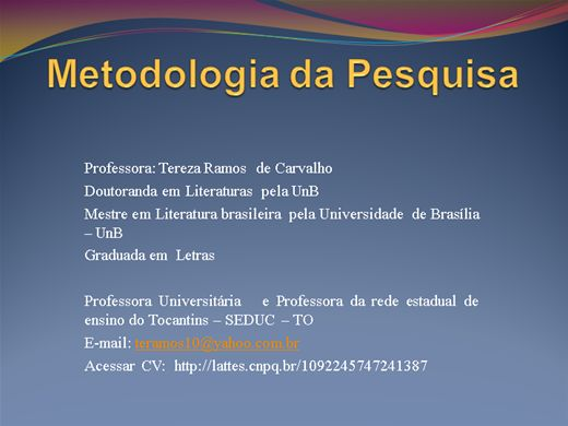 Curso Online de metodologia da pesquisa